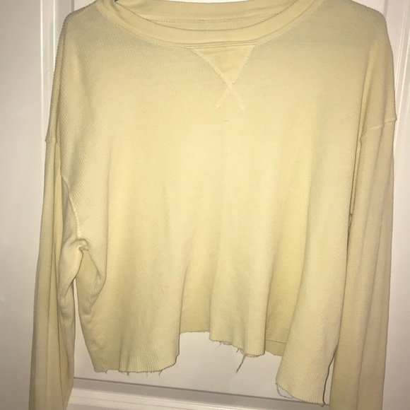 Brandy Melville Tops - brandy/John galt yellow cut off sweater